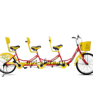 тандемный велосипед с тремя сиденьями