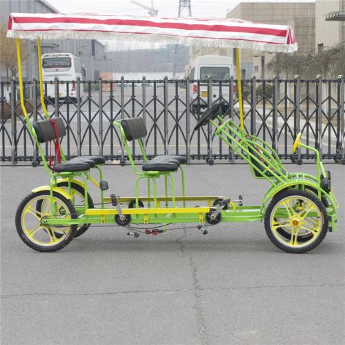 тандемный велосипед на четверых