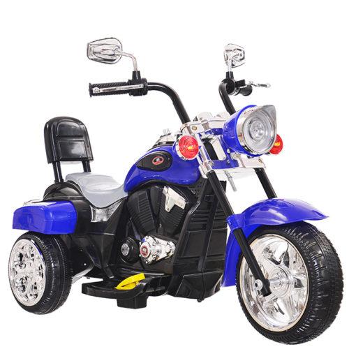 Детский электромотоцикл синий